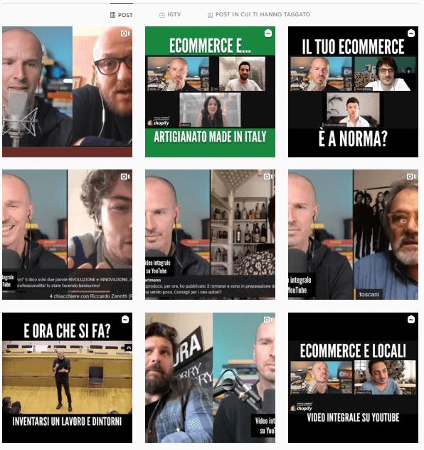 marco monty montemagno instagram feed - personal branding esempi